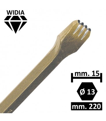 GRADINA WIDIA 15 MM. 4 PUNTE