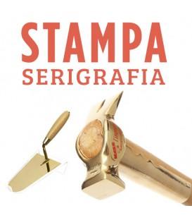 Stampa serigrafia personalizzata su cazzuole e martelli linea oro 24k