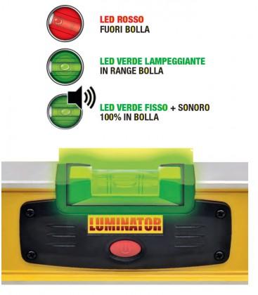 Livella digitale Luminator Mass: fiale led luminose autolivellanti
