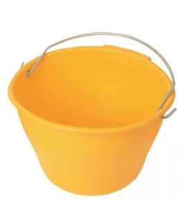 Secchio in plastica giallo extra Mass