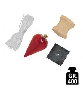 Piombo per muratore a pera standard Mass da 400 grammi