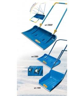 Pala da neve a slitta in polipropilene con profilo e ruote