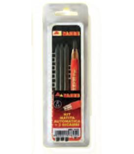 Kit matita muratore automatica Mass con 3 mine di ricambio