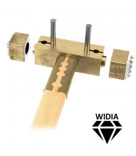 Bocciarda widia mass con manico in legno extra