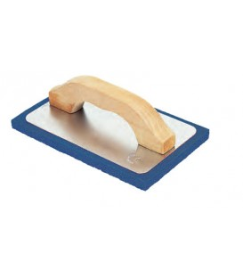 Frattone gomma spugna blu media supporto alluminio manico in legno